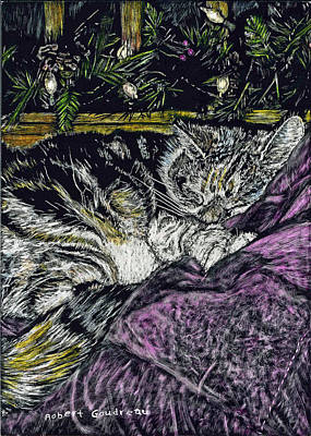 Catnap Art Print by Robert Goudreau