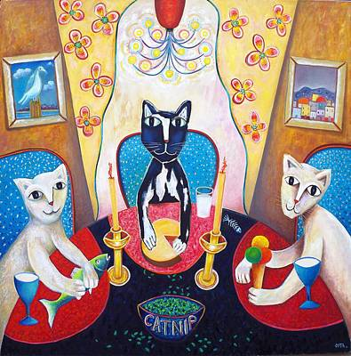 Catnip And Other Pleasures Art Print by Andrew Osta