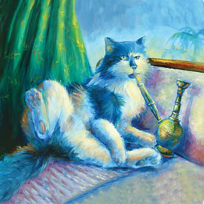 Catnip Painting - Catnip Pillow by Vanessa Bates