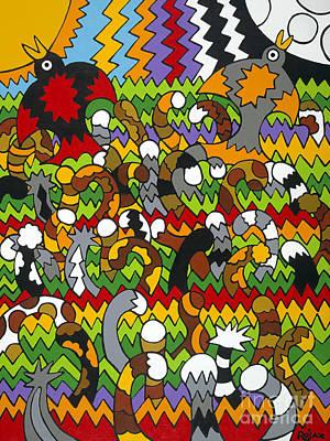 Catnip Art Print by Rojax Art