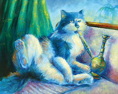 Cheshire Cat Painting - Catnip by Vanessa Bates