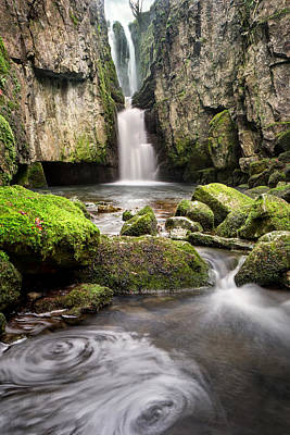 Knaresborough Photograph - Catrigg Force Falls by Chris Frost