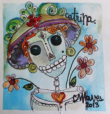 Painting - Catrina 2013 by Laurie Maves ART