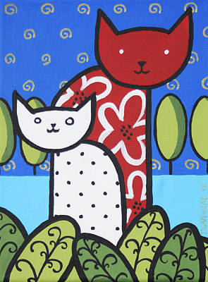 Cats 1 Art Print by Trudie Canwood