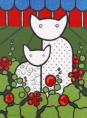 Cats 5 Art Print by Trudie Canwood