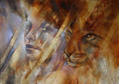 Painting - Cats by Annette Schmucker