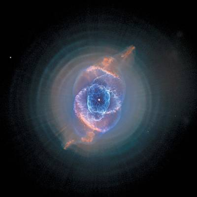 Planetary System Painting - Cats Eye Nebula - Ngc 6543  by Celestial Images