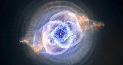 Science Fiction Royalty-Free and Rights-Managed Images - Cats Eye Nebula by Adam Romanowicz