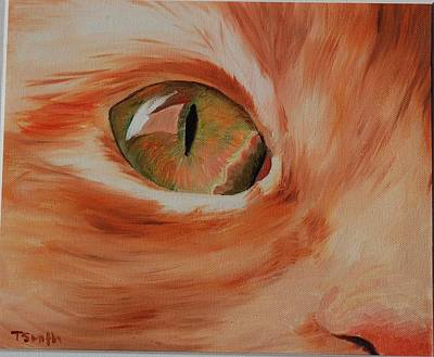 Painting - Cat's Eye by Teresa Smith