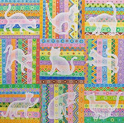 Cats Art Print by Grass Hopper
