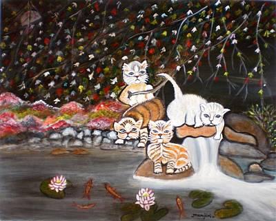 Cats In The Wild II Art Print