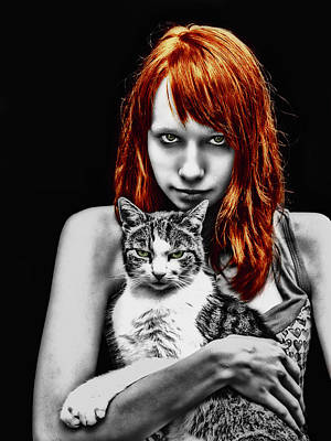 Redheads Wall Art - Photograph - Cats by Joachim G Pinkawa