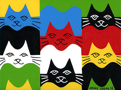 Painting - Cats by Mike Segal