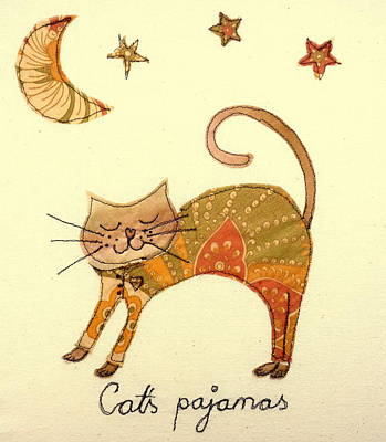 Tapestry - Textile - Cats Pajamas by Hazel Millington