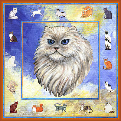 Cats Purrfection Four - Persian Print by Linda Mears