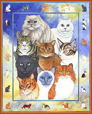 Cats Purrfection One - Collage Print by Linda Mears