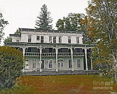 Digital Art - Catskill Home Lexington Ny by Lizi Beard-Ward