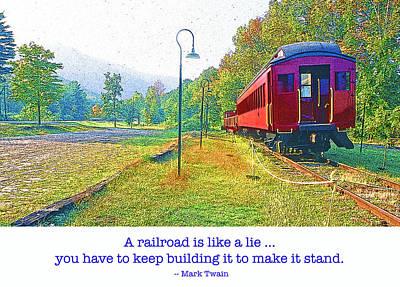 Catskill Mountain Railroad In Autumn Art Print