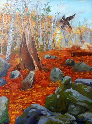Painting - Catskills With Hawk by Rick Carbonell