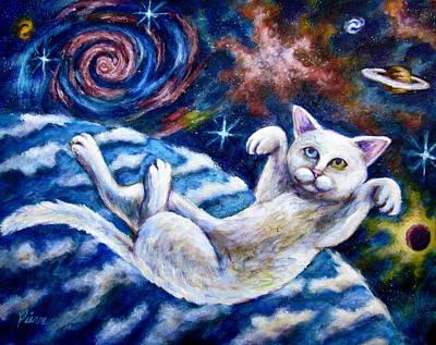 Catstronaught Art Print