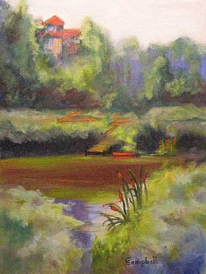 Tidal Creek Painting - Cattail Creek by Cecelia Campbell
