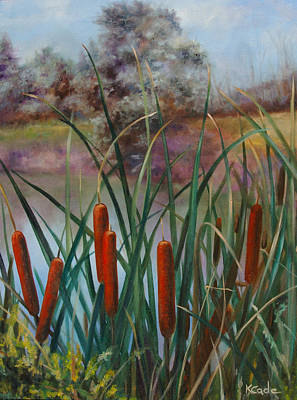 Painting - Cattail by Karen Cade