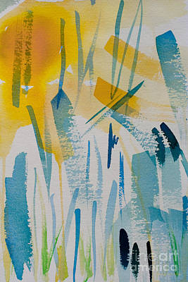 Painting - Cattail Sun by Barbara McMahon