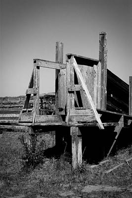 Photograph - Cattle Chute by Robert Melvin