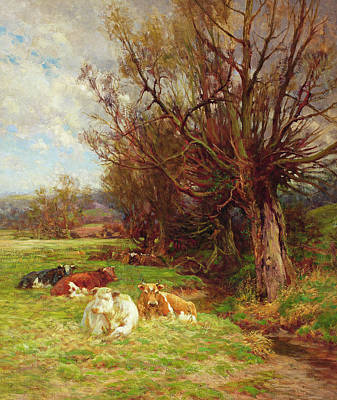 Field. Cloud Painting - Cattle Grazing by Charles James Adams