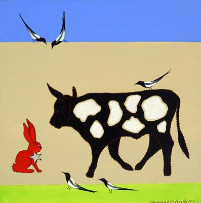 Cattle Guard Art Print