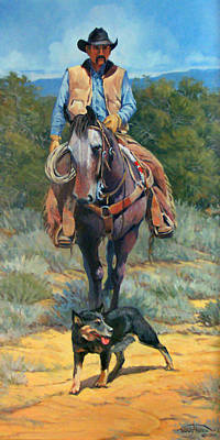 Wyoming Painting - Cattle King by Randy Follis