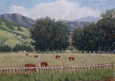 Painting - Cattle by Marv Anderson