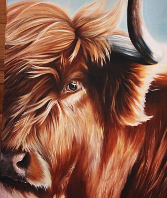 Steer Painting - Cattle No. 1 by Kimberly VanDenBerg