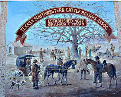 Photograph - Cattle Raisers Association by Linda Cox
