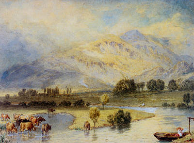 Myles Birket Foster Digital Art - Cattle Watering by Myles Birket Foster