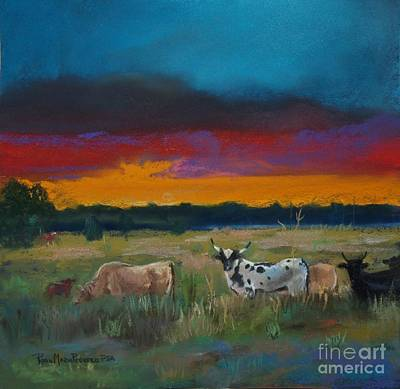 Painting - Cattle's Cadence by Robin Maria Pedrero