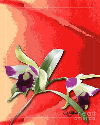 Cattleya Triage Dafoi Art 2 Of 3  Art Print by Ruth  Benoit