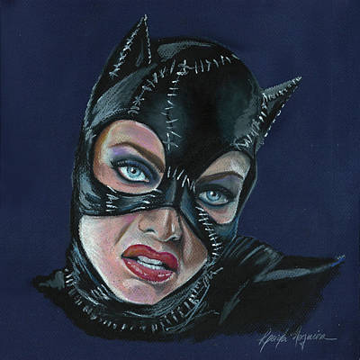 Painting - Catwoman by Leida Nogueira