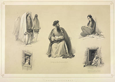 Afghanistan Photograph - Caubal Costumes by British Library