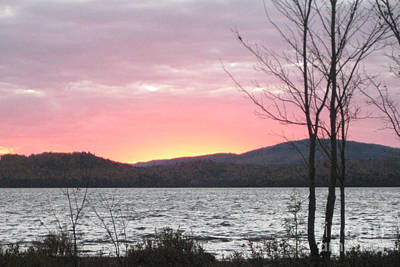 Caucomgomoc Lake Sunset In Maine Art Print