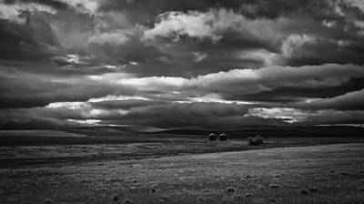 Prairie Storm Photograph - Caught In A Storm Moving Off The Rockies by Thomas Young