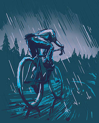 Velo Painting - Caught In The Rain by Steven Valenziano