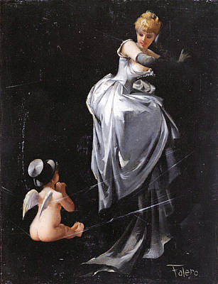 Grey Dress Painting - Caught In The Web by Luis Ricardo Falero