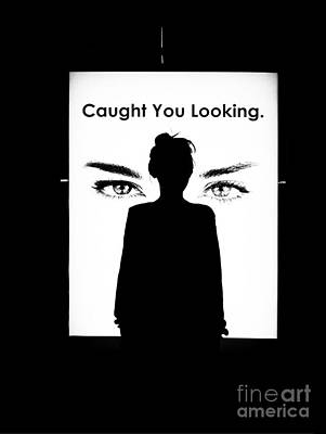 Photograph - Caught You Looking B W by Fei A