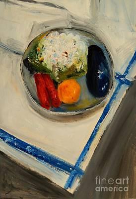 Cauliflower Painting - Cauliflower And Carrots by Caroline Street