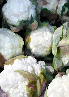 Cauliflower Painting - Cauliflower Bouquet by Elaine Plesser