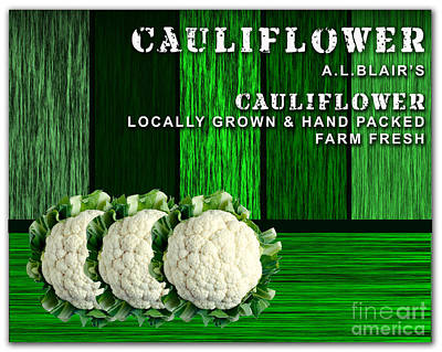 Cauliflower Mixed Media - Cauliflower Farm by Marvin Blaine