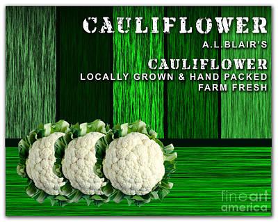 Vegetables Mixed Media - Cauliflower Farm by Marvin Blaine
