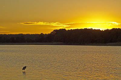 Photograph - Causeway Sunset At Huntington Beach Sp by Bill Barber