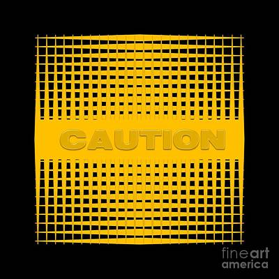 Digital Art - Caution by Darla Wood